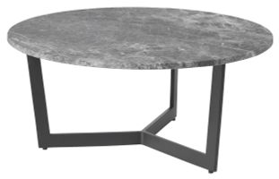 Table basse Cruzzo avec plateau de table Pietro en marbre Silver Mink