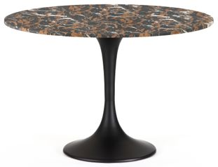 Table Tulipo avec plateau de table Pietro en marbre Portoro Brown
