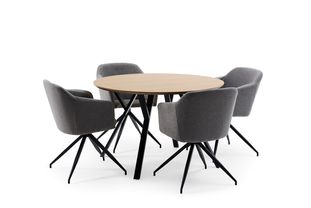 Ensemble de table Tommy bois de frêne naturel avec 4 chaises Billy