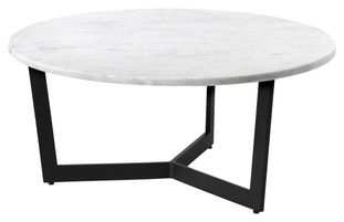 Table basse Cruzzo avec plateau de table Pietro en marbre Bianco Carrara