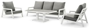 Zenso loungeset wit-grijs - aluminium en Weather+ Softtouch - 5 personen