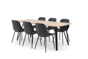 Ensemble table Tommy et 6 chaises Jamie