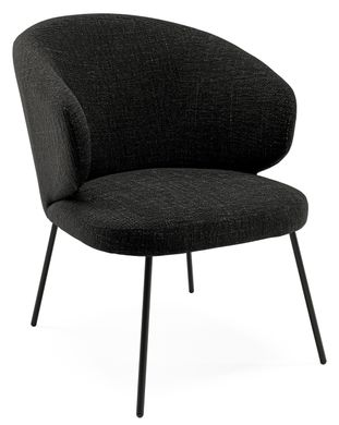 Fauteuil Veneto  in Bliss stof Black