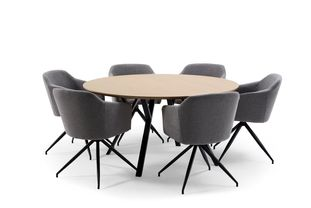 Ensemble de table Tommy bois de frêne naturel avec 6 chaises Billy