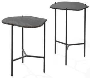 Set de 2 tables d'appoint Pedro