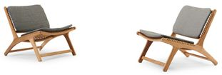 Cosito lounge balkonset naturel-grijs - teak en Weather+ Softtouch - 2 personen