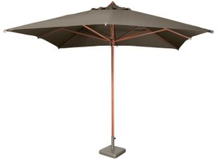 Parasol Palata - 3x3m - Taupe (pied incl.)