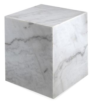 Table d'appoint Pietro en marbre Bianco Carrara