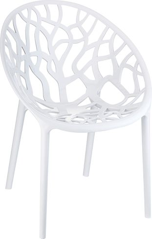 Chaise empilable Crystal empilable blanc-blanc - matière synthétique et matière synthétique