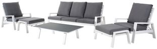 Veneto loungeset wit-grijs - aluminium en weather+ softtouch - 5 personen