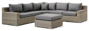 Pintura loungeset wit-grijs - aluminium en Weather+ Softtouch - 5 personen