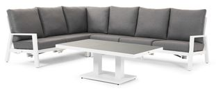Cirello loungeset wit-grijs - aluminium en Weather+ Softtouch - 5 personen