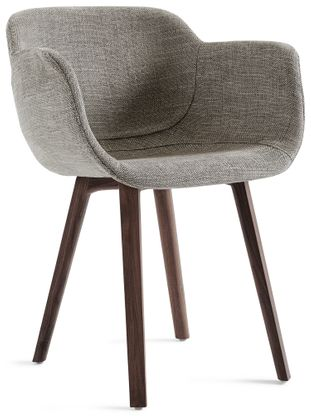 Fausto armstoel in Dot stof Taupe