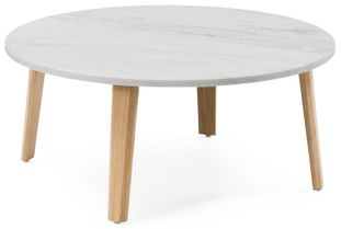 Table basse Clino avec plateau Pietro en marbre Bianco Carrara