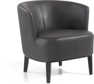 Toscane fauteuil in Tress lederlook Shadow