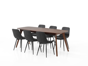 Ensemble table Jacky et 6 chaises Jo