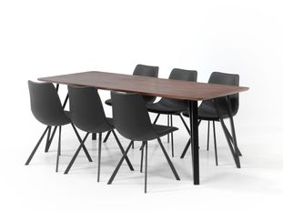 Ensemble table Tommy et 6 chaises Bradley