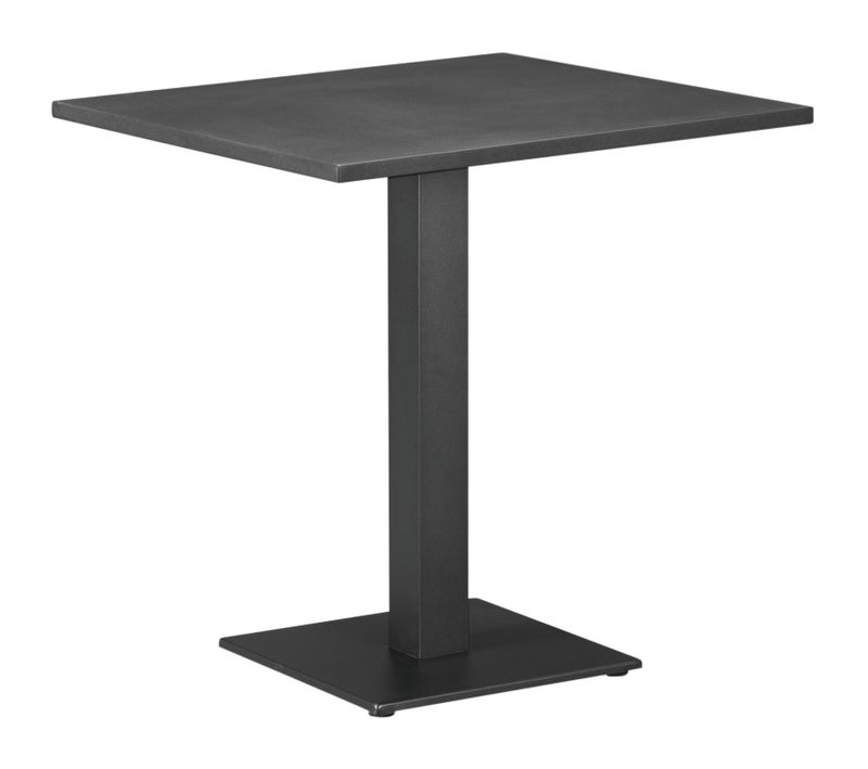 Table Callas noir-noir - aluminium avec plateau de table en aluminium - L 80  x l 70 cm
