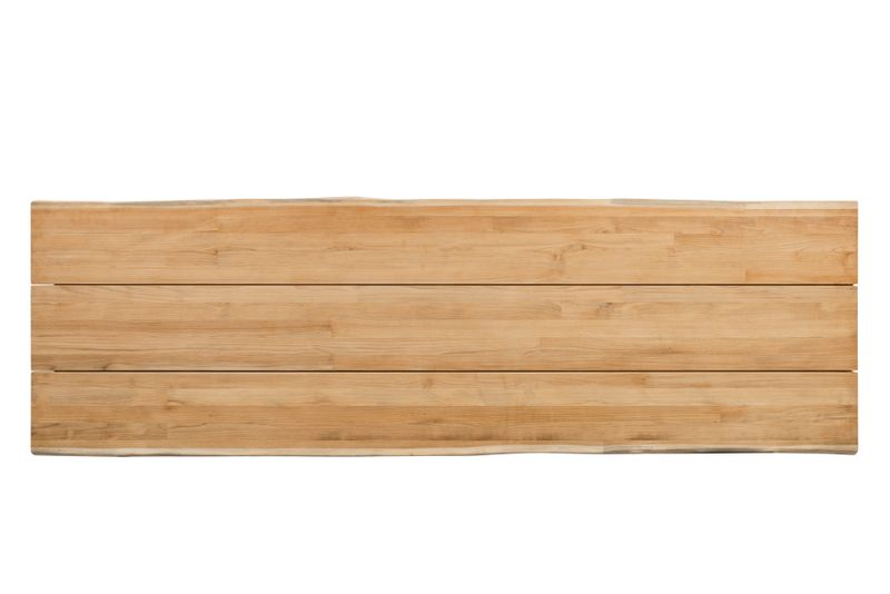 Tafelblad in teak - Naturel - L 300  x B 112 cm