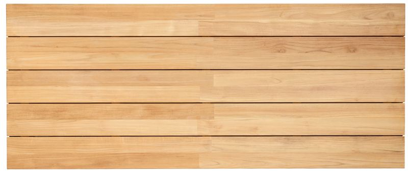 Tafelblad in teak - Naturel - L 240  x B 100 cm