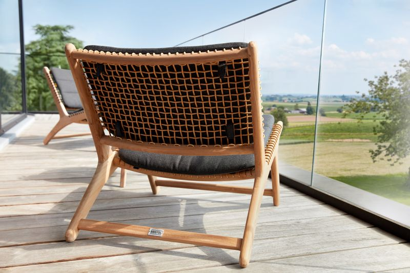 Cosito lounge balkonset teak - natural wicker