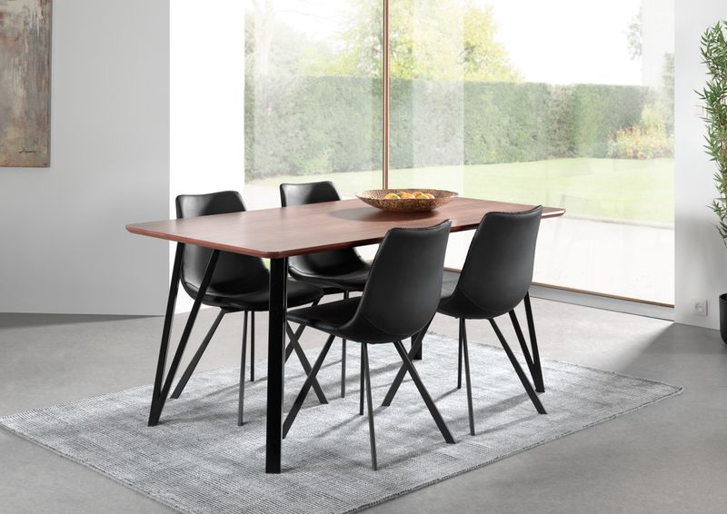 Ensemble table Tommy et 4 chaises Bradley