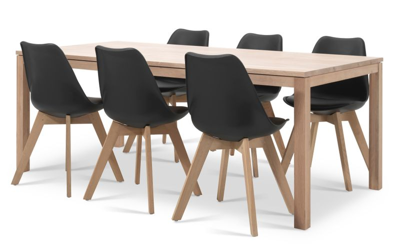 Ensemble de table London avec 6 chaises Korsa