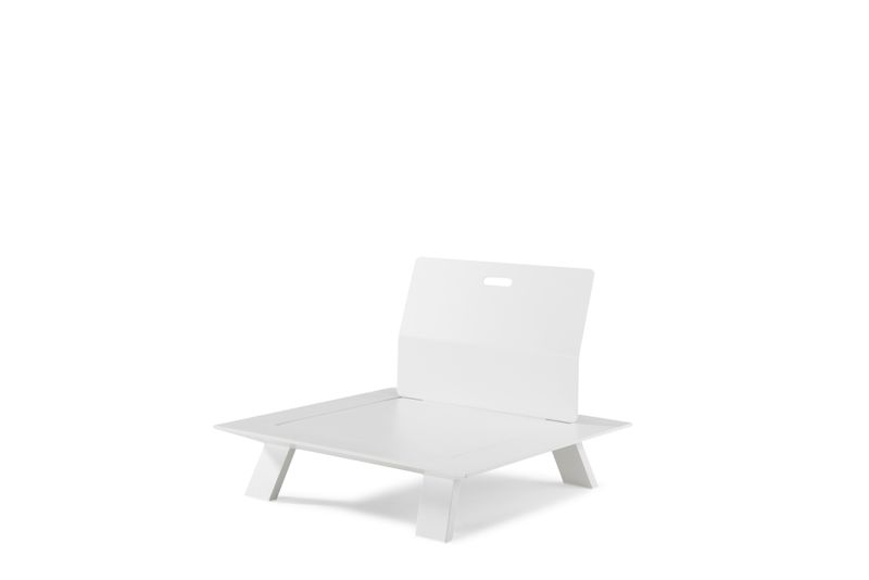 Cesano lounge-element wit - aluminium - 1 persoon