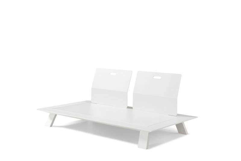 Cesano lounge-element wit - aluminium - 2 personen